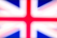 De vlag van Engeland in defocus royalty-vrije stock fotografie