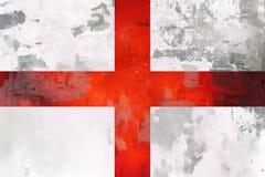 De vlag van Engeland - grunge textuur stock afbeelding