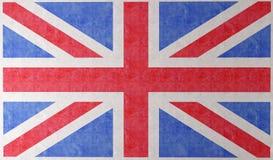 De vlag van Engeland op muur stock illustratie
