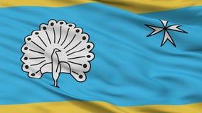 De Vlag van de Ermelostad, Nederland, Close-upmening royalty-vrije stock afbeelding