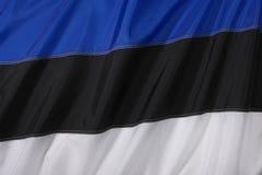 De Vlag van Estland Stock Foto