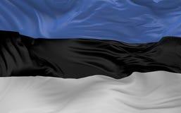 De vlag van Estland die in de 3d wind golven geeft terug Stock Afbeelding