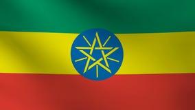 De vlag van Ethiopië