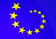 De vlag van Europa Stock Afbeeldingen