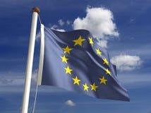 De vlag van Europa (met het knippen van weg) Stock Afbeeldingen