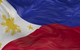 De vlag van de Filippijnen die in de 3d wind golven geeft terug Stock Fotografie
