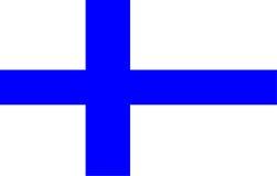 De Vlag van Finland Royalty-vrije Stock Foto
