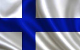 De Vlag van Finland Een reeks `-Vlaggen van de wereld ` Het land - de vlag van Finland Royalty-vrije Stock Foto