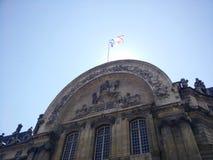 De vlag van Frankrijk in de zon Stock Afbeelding