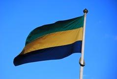 De vlag van Gabon Royalty-vrije Stock Foto's