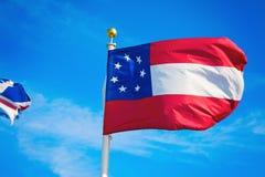 De vlag van Georgië Stock Foto's
