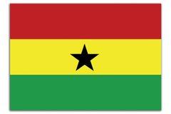 De vlag van Ghana vector illustratie