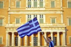 De vlag van Griekenland Stock Fotografie