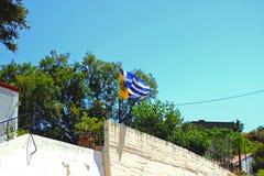 De Vlag van Griekenland Stock Foto's