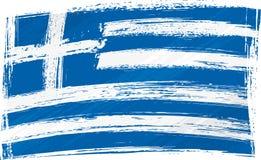 De vlag van Griekenland van Grunge Stock Afbeelding