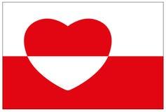 De vlag van Groenland Stock Afbeeldingen