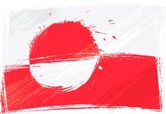 De vlag van Groenland van Grunge royalty-vrije illustratie