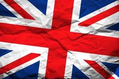 De vlag van Groot-Brittannië Stock Foto