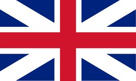 De vlag van Groot-Brittannië Stock Fotografie