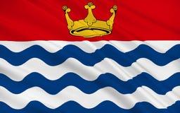 De vlag van Groot Londen, of Londen, is een gebied van Engeland royalty-vrije illustratie