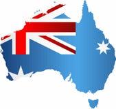 De Vlag van Grunge van Australië stock illustratie