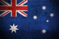 De Vlag van Grunge van Australië Stock Fotografie
