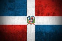 De Vlag van Grunge van Dominicaanse Republiek Stock Foto