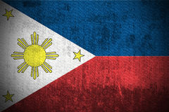 De Vlag van Grunge van Filippijnen Stock Foto's