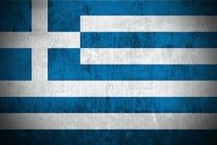 De Vlag van Grunge van Griekenland Stock Afbeelding