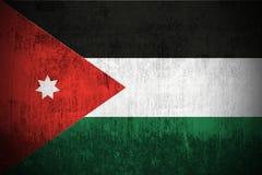 De Vlag van Grunge van Jordanië Stock Afbeeldingen