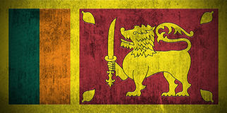 De Vlag van Grunge van Sri Lanka Royalty-vrije Stock Foto