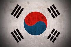 De Vlag van Grunge van Zuid-Korea Stock Foto