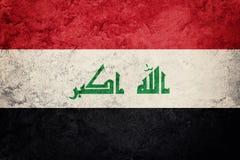 De vlag van Grungeirak De vlag van Irak met grungetextuur royalty-vrije stock foto