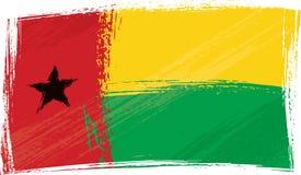 De vlag van Guinea-Bissau van Grunge stock illustratie