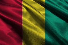 De vlag van Guinea, symbool van de de vlag 3D illustratie van Guinea het nationale Stock Foto's