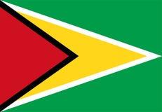 De Vlag van Guyana Royalty-vrije Stock Foto