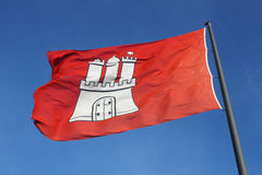 De vlag van Hamburg Stock Foto's