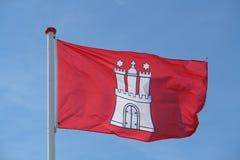 De vlag van Hamburg Royalty-vrije Stock Foto
