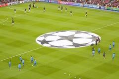 De vlag van het Champions League Stock Fotografie