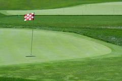 De vlag van het golf op green Stock Fotografie