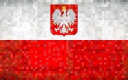 De Vlag van het Grungemozaïek van Polen royalty-vrije stock afbeelding