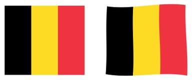 De vlag van het koninkrijk van België Eenvoudig en lichtjes het golven versie royalty-vrije illustratie