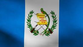 De vlag van het land van Guatemala royalty-vrije illustratie