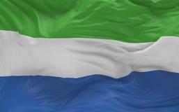 De vlag van het Sierra Leone die in de 3d wind golven geeft terug Stock Foto's