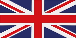 De vlag van het Verenigd Koninkrijk royalty-vrije illustratie