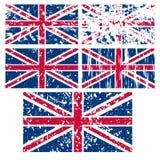 De vlag van het Verenigd Koninkrijk Stock Foto's