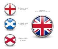 De vlag van het Verenigd Koninkrijk - Engeland, Schotland, Ierland Union Jack Royalty-vrije Stock Afbeelding