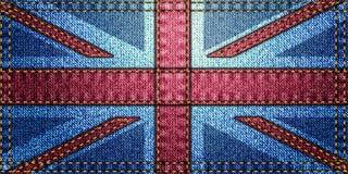 De Vlag van het Verenigd Koninkrijk, lapwerk Royalty-vrije Stock Fotografie