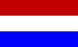 De vlag van Holland Royalty-vrije Stock Foto