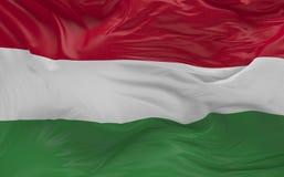 De vlag van Hongarije die in de 3d wind golven geeft terug Royalty-vrije Stock Foto's
